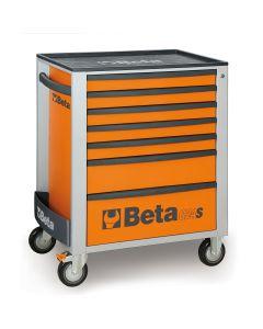 Mobile Roller Cab 7 Draw, Orange
