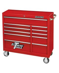 """Extreme 41"""" 11 Drawer Roller Cabinet - Textured Red"""