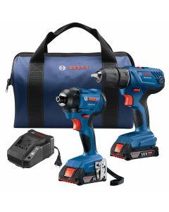 18V 2-Tool Combo Kit w/ Compact Drill/Driver (GSR18V-190), Impact Driver (GDR18V-1400) w/ (2) 2.0 Ah SlimPack Batteries