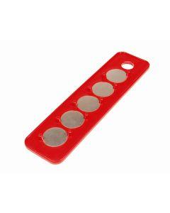 """Magnetic Socket Holder Strip 1/4"""" Drive 2-1/4"""" x 9"""""""