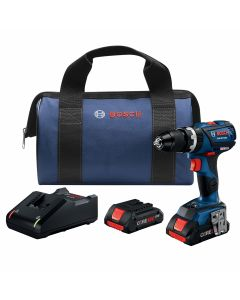 18V Brushless Compact Tough Hammer Drill Driver, Connected Ready w/ (2) 4.0 Ah CORE Compact Batteries