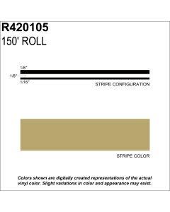 "MS, 5/16"" X 150'; Light Gold Metallic"