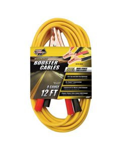 Medium Duty Battery Booster Cables, 12 Foot, 8 Gauge, with 200 Amp Clamps