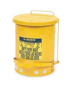 Oil Waste Can, Six Gallon, Yellow