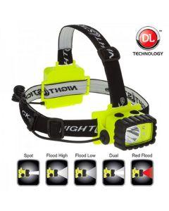Bayco Nightstick CREE LED Headl Amp with White and Red LED's w/ Hi-viz Green Base