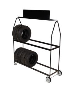 Deluxe Tire Display on Wheels