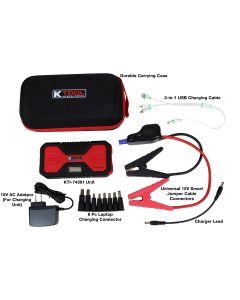 Jump Starter/Power Supply Kit 12,000 mAh