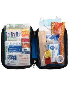 Soft Sided First Aid Kit Plus Emergency Prep: 105 Pieces