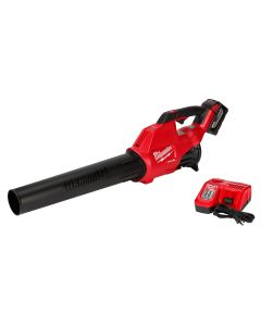 Milwaukee M18 FUEL 18V Li-Ion Brushless Cordless Handheld Blower Kit with XC8.0 Ah Battery and Rapid Charger, 120 MPH 450 CFM