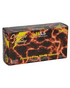 Orange Lightning XLarge Orange Nitrile Gloves