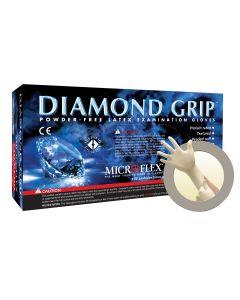 DIAMOND GRIP PF LATEX GLOVES XSMALL 100PK