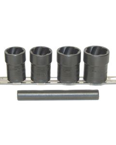 "5 Piece 1/2"" Drive Locking Lugnut Twist Socket Removal Kit"