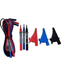 Silicone Stackable Leads - Red - Blue - Black