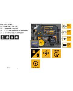Generator Dual Fuel 7500 Watt - 6750 Watt