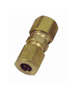 """5-pk of 1/4"""" Nylon to Steel Brass Compression Union Fuel Line Fittings"""