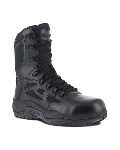 """Reebok RB8874 Rapid Response RB 8"""" Stealth Boot with Side Zipper 10M"""