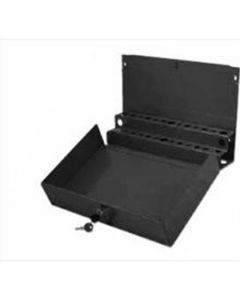 Extra Large Locking Screwdriver/Prybar Holder for Service Cart - Black
