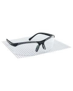 Sidewinder 1.5x Readers Safety Glasses w/ Black Frame and Clear Lens in Polybag