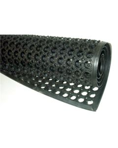 Anti-Fatigue 3 ft. x 5 ft. Industrial Rubber Mat, Ventilated to Prevent Moisture Build Up