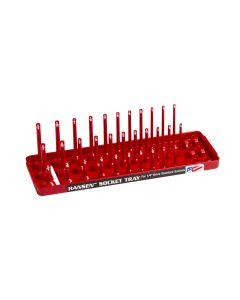 Hansen Global 1/4 in. Drive Fractional 3-Row Socket Tray