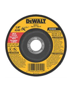 "DeWalt 4-1/2"" x 1/4"" x 7/8"" High Performance Metal Grinding Wheel"
