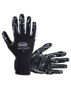 1-pr of Paws Nitrile Coated Palm Gloves, L