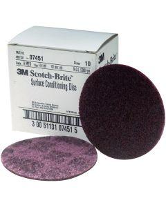"4"" Scotch Brite Surface Conditioning Discs Medium Maroon"