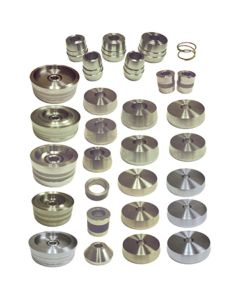 34-pc Hub And Hubless Brake Lathe Adapter Kit for Most Car Applications Through 1 Ton Vehicles Set
