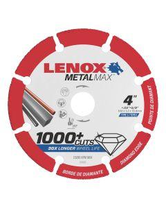 LENOX Metal Max Angle Grinder Diamond Cutoff Wheel 4 in. x 5/8 in.