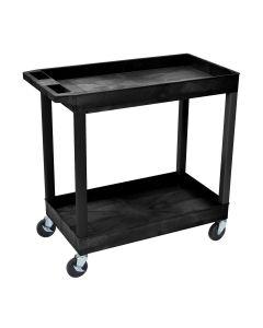 Luxor E-Series 2-Shelf Utility Cart
