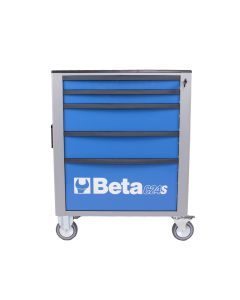 Mobile Roller Cab 5 Draw, Blue