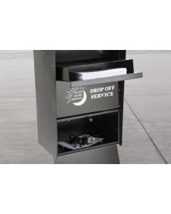 Self Contained Key Drop Box, Black