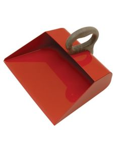 """Red Metal Shop Scoop, 14"""" Wide, with Sealed Seams to Hold Liquids, Top Handle"""