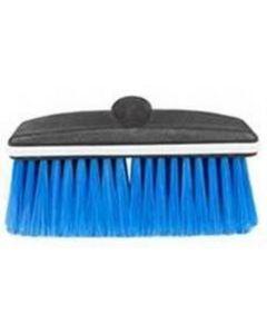 Soft Blue Bristle 8 in. Wash Brush, Plastic Block Head w/ Threaded Hole