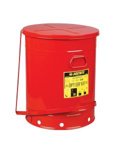 21 Gallon Oily Waste Can With Foot Lever, Red