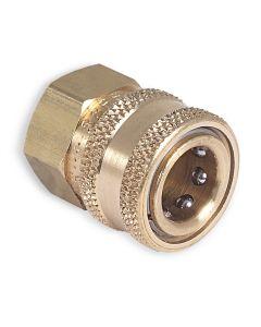 """3/8 Qc 3/8"""" F x 3/8"""" Socket Brass"""