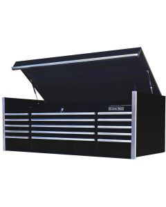 "72"" 15 Drawer Professional Top Chest, Black"