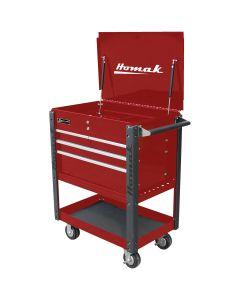 Homak Mfg. 35 in. Pro Series 4 Drawer Flip Top Service Cart