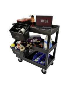 Luxor 32 x 18 in. 3-Shelf Tub Cart with Outrigger