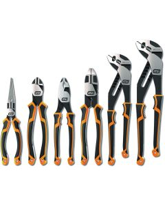 6 Pc. Mixed Dual Material Pliers Set