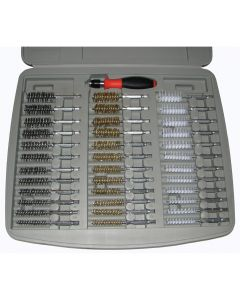"""36 Piece Bore Brush Set with 1/4"""" Driver Handle"""
