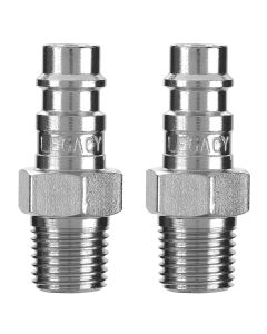 "Flexzilla Pro High Flow Plug, 1/4"" MNPT, 1/4"" Body, 2-Pack"