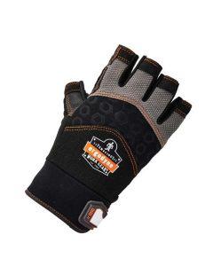 900 L Black Half-Finger Impact Gloves