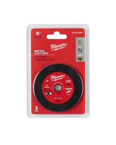 Milwaukee 3-Pack, 3 in. Metal Cut Off Wheel MAX 20,000 RPM