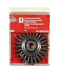 """4"""" Cable Twist Wire Wheel-5/8"""""""