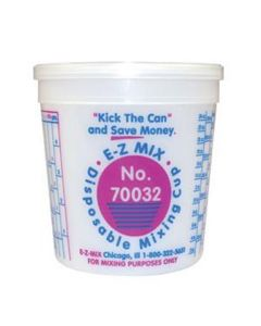 Disposable 1 Quart Mixing Cups - 100
