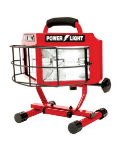 Halogen Work Light, 500 Watt, Wide Angle Surround Lens, On/Off Switch, 18/3 5' Cord, UL Listed