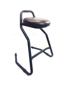 Robust and comfortable garage stool