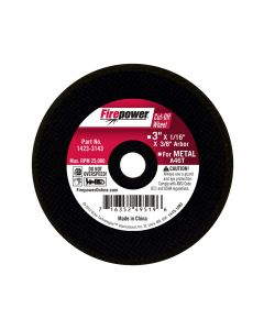 Type 1 Cut-Off Abrasive Wheel, 3 x 1/16 x 3/8