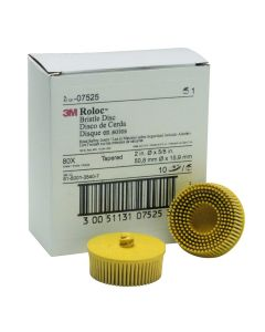 "2"" Scotch-Brite Roloc Bristle Discs 80 Grit Medium Yellow"